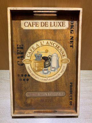 cafe de luxe木托盤 咖啡托盤 茶托盤 木盤 茶盤長方形茶盤 木制餐盤 餐盤