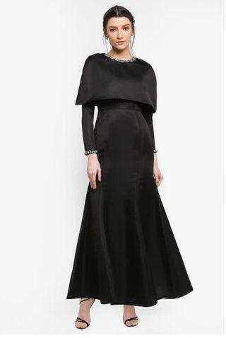 Zalia Black Cape Dress BNWT