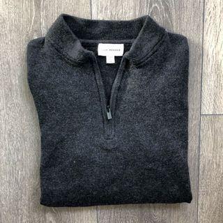 Club Monaco Quarter Zip Fitted Sweater