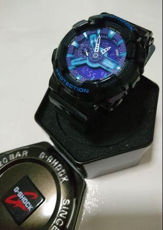 🚚 Casio G-Shock Black - Blue GA-110BR-5ADR (Authentic)