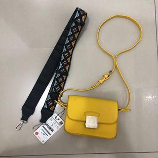 ZARA Yellow Sling Bag- TAS ZARA