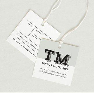 Clothing label tags