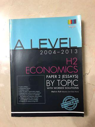 A level H2 economics paper 2 by topic