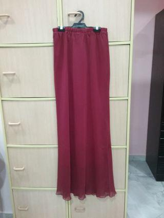 Crisscross Long Mermaid Skirt
