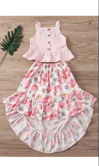 PO kids Long dress set brand new size 90-130 cm