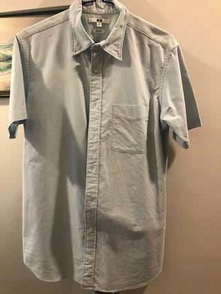 Uniqlo Light Blue Short Sleeve Shirt