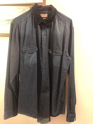 Padini Dark Blue Long Sleeve shirt