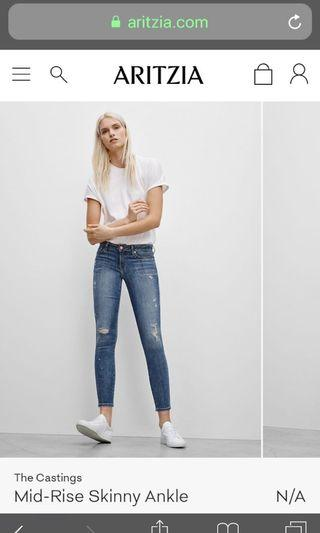The Castings Mid Rise Skinny Ankle Jean