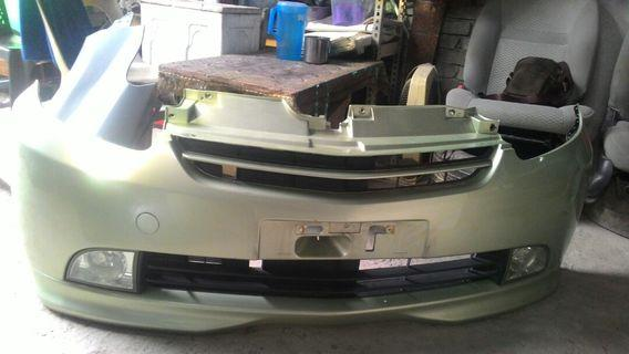 Myvi ezi Bumper depan dan belakang original dari kereta (hijau)