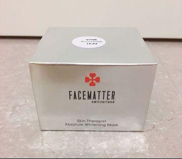 瑞士🇨🇭製造Facematter Whitening Mask