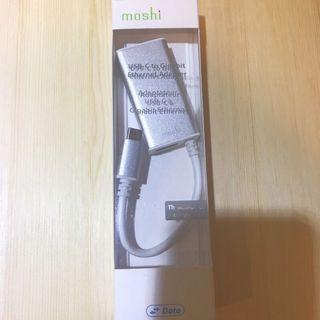 🚚 Moshi USB-C to Gigabit 乙太網路轉接線