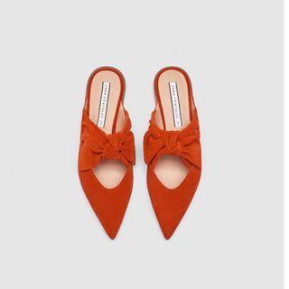 Zara Leather Mules US 6