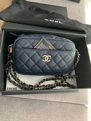 Chanel Navy Blue Camera Case