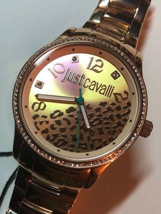 意大利時裝品牌 Just Cavalli 玫瑰金女士女裝石英手錶 r7253127510