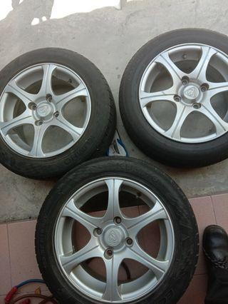 Waja sports rim, tire, steering
