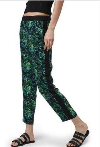 Topshop green Multi Leaf Print Jogger Pants