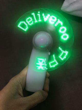 Deliveroo Portable mini fan with LED
