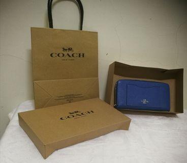 COACH 手風琴拉鏈錢包 F54007