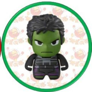 (包郵) 扭蛋 - MARVEL Avengers 角色造型公仔擺設 第三彈 (綠巨人 Hulk)