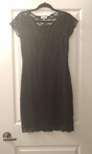 Black Lace Dress - Size: Medium