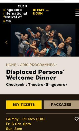 🚚 SIFA Displaced Persons' Welcome Dinner (May 26 Sun, 3pm) x 1 ticket