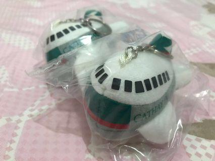 CX Cathay Pacific old logo soft toys aeroplane airplane aircraft keychain 國泰航空 飛機 仔 匙扣