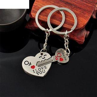 Couple Gifts Lovers Keychain Set