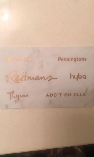 Rw&co etc gift card