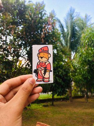 Sticker bear