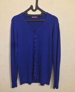 Blue soft knit adem cardigan