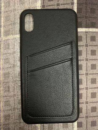 iPhone XS Max Leather Case with Card Pockets