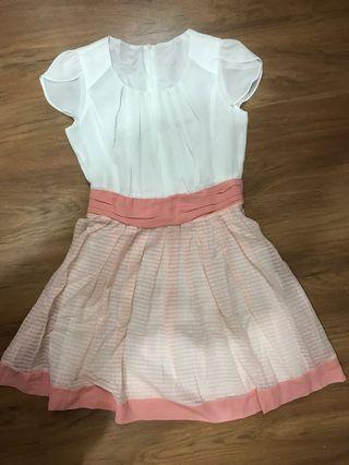🚚 Pink Striped Dress (from Korea)