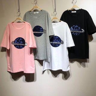 🚚 亮片星球🌍上衣T恤