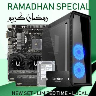🚚 [NEW SET] RYZEN 2700 + GTX 1660TI 6GB + 16GB RAM GAMING DESKTOP PC!!
