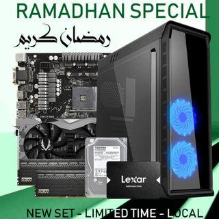 [NEW SET] RYZEN 2700 + RTX 2060 6GB + 16GB RAM GAMING DESKTOP PC!!