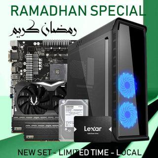 [NEW SET] RYZEN 2700 + RTX 2070 8GB + 16GB RAM GAMING DESKTOP PC!!