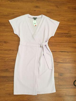 BNWT suzy lilac wrap dress