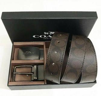 COACH MEN BELT GIFT BOX