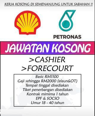 Cashier/ Pump Attandance  Di Semenanjung (Untuk Sabahan & Serawak)