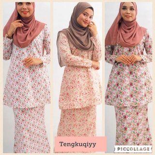 Kurung Riau Bunga Kecil Sweetie English Cotton
