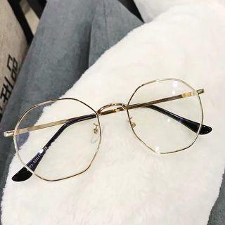 🚚 氣質金色細框眼鏡