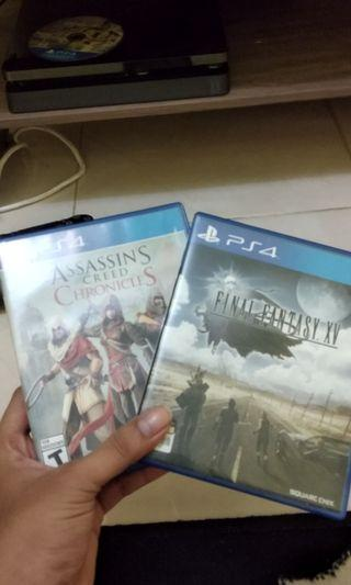 Kaset PS4 final fantasy xv and assasins