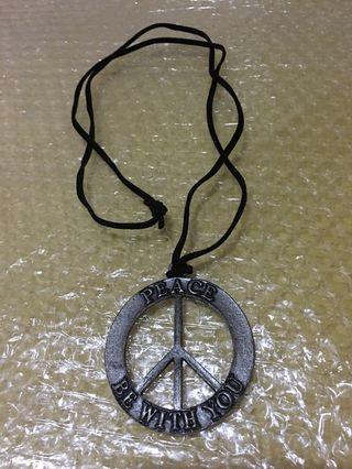 PEACE和平皮繩項鍊