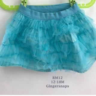 Gingersnaps 12-18mos Blue skirt Tulle Girls Skirt