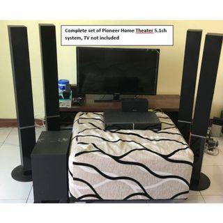 Pioneer Home Theatre 5.1ch (DVD Player) system for sell