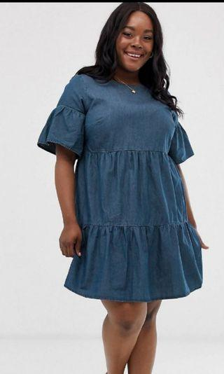 Plus size Denim dress Size UK 20
