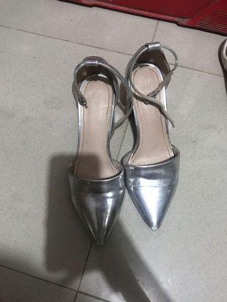 H&M silver heels