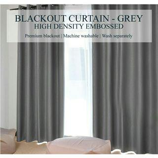 (Set of 2pcs) Sunlight Blackout Curtains High Density - Grey