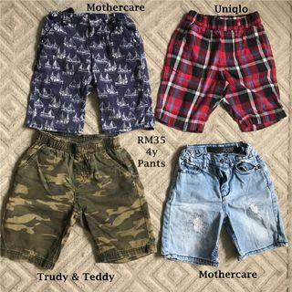 Mothercare Uniqlo Half Shorts for 4yo Boys
