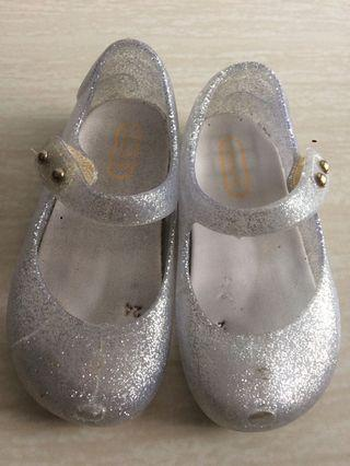 Glittery Silver Shoes / Mini Melissa Inspired